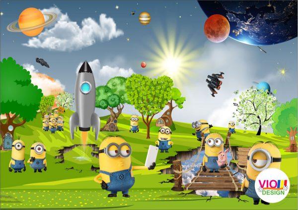 Fototapet-Copii-27-Planeta-Minionilor