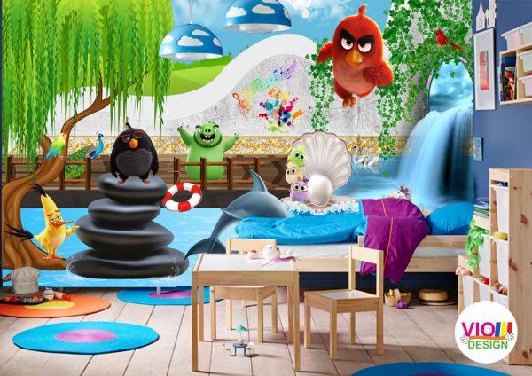 Fototapet-Copii-32-Angry-Birds