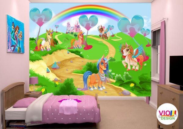 Fototapet-Copii-66-Regatul-Unicornilor