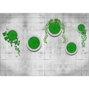 Fototapet-3D-Green-on-Wall