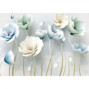 Fototapet-Abstract-Flori-in-Vant