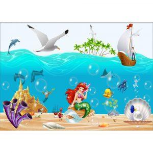 Fototapet-Copii-105-Ariel-Mica-Sirena