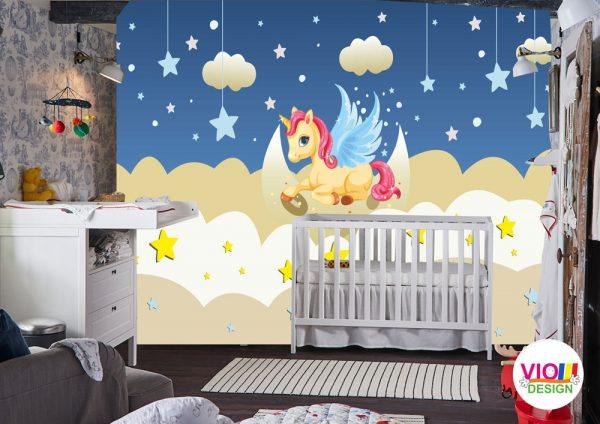 Fototapet-Copii-113-Unicornul-Stelar