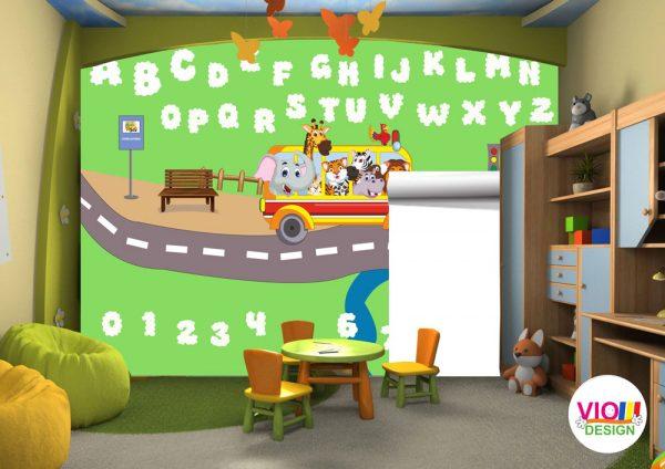 Fototapet-Copii-117-Alfabet-Educatie
