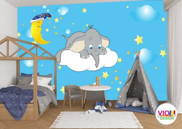Fototapet-Copii-118-Elefantul-Cici