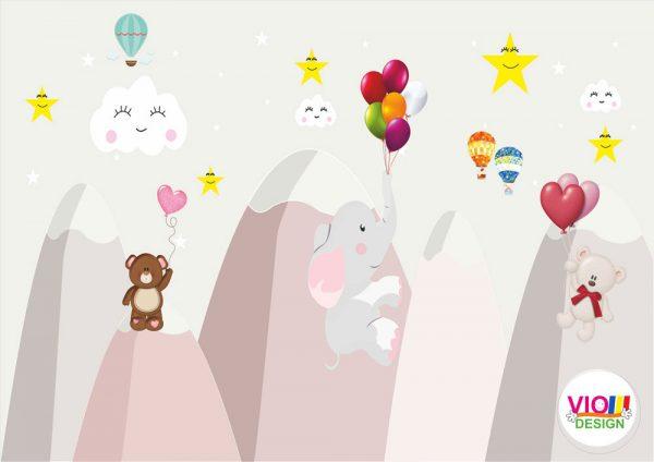 Fototapet-Copii-120-Elefant-Ursuleti