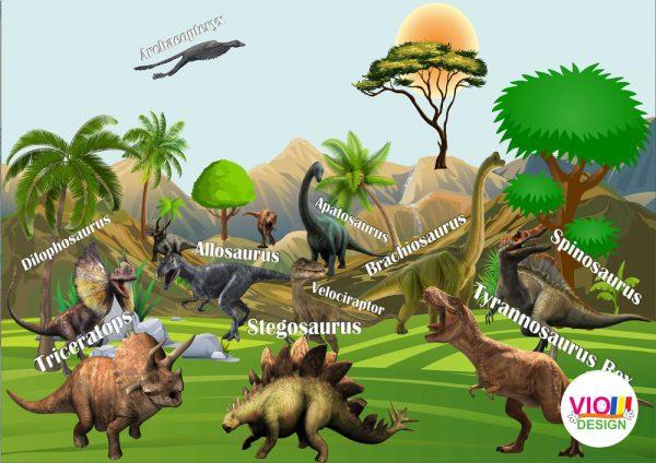 Fototapet-Copii-123-Dinozauri-Jurassic