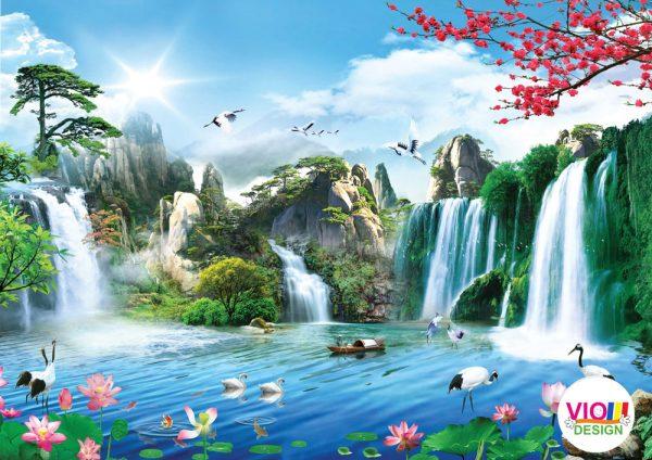 Fototapet-Peisaj-Cascada-Cocorilor