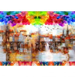 Fototapet Abstract Oras Pictat